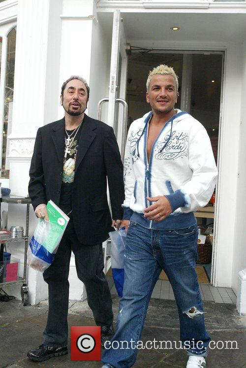 Peter Andre and David Gest shopping at Carluccio's