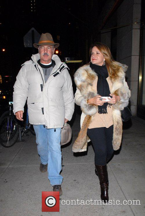 Out and about in Midtown Manhattan with his...