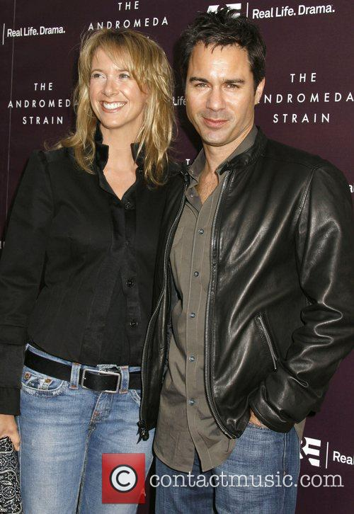 Eric McCormack and his wife A&E World Premiere...