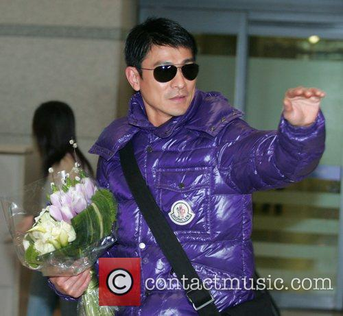 Andy Lau arrives at Incheon airport to promote...