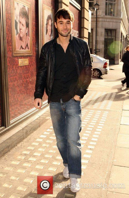Andy Williams leaving the Radio 1 studio London,...