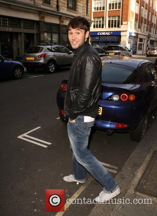 Leaving the Radio 1 studio