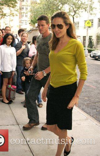 Angelina Jolie picks up Maddox Jolie-Pitt from Lycee...