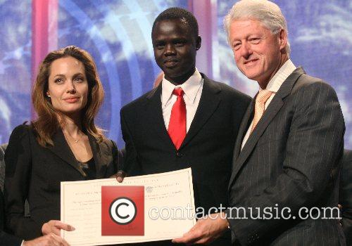 Angelina Jolie and President Bill Clinton Clinton Global...