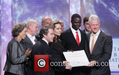 Angelina Jolie and Bill Clinton Clinton Global Initiative...
