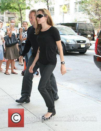 Angelina Jolie arrives at Lycee Francais De New...
