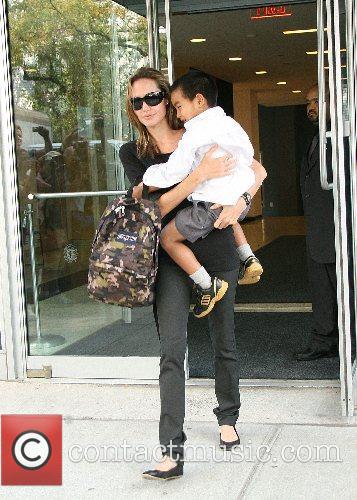 Angelina Jolie and Maddox 2