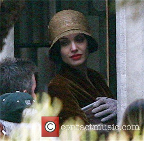 On the set of her new film, 'The...