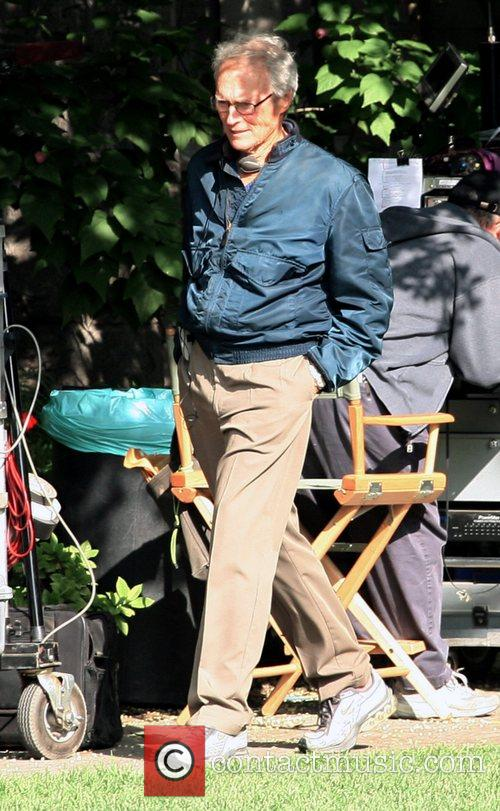 On the set of his new film, 'The...