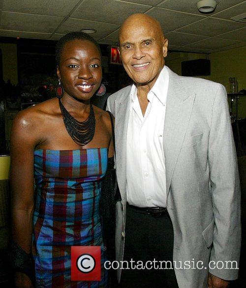 Danai Gurira and Harry Belafonte New York Premiere...
