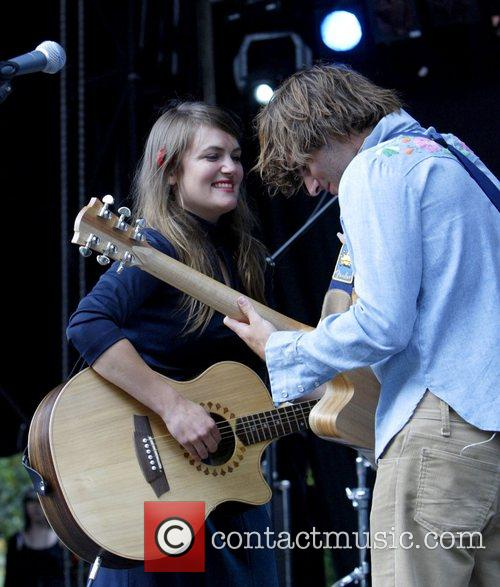 Angus & Julia Stone, Julia Stone perform live at Homebake 2007, Australia's annual outdoor music festival for 'homegrown' bands and held at The Domain. 12