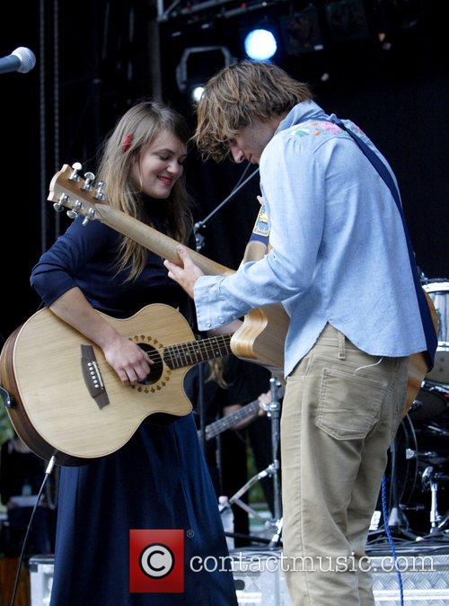 Angus & Julia Stone, Julia Stone perform live at Homebake 2007, Australia's annual outdoor music festival for 'homegrown' bands and held at The Domain. 20