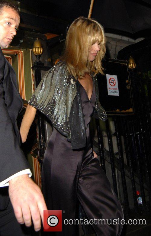 Kate Moss leaving Annabel's night club London, England