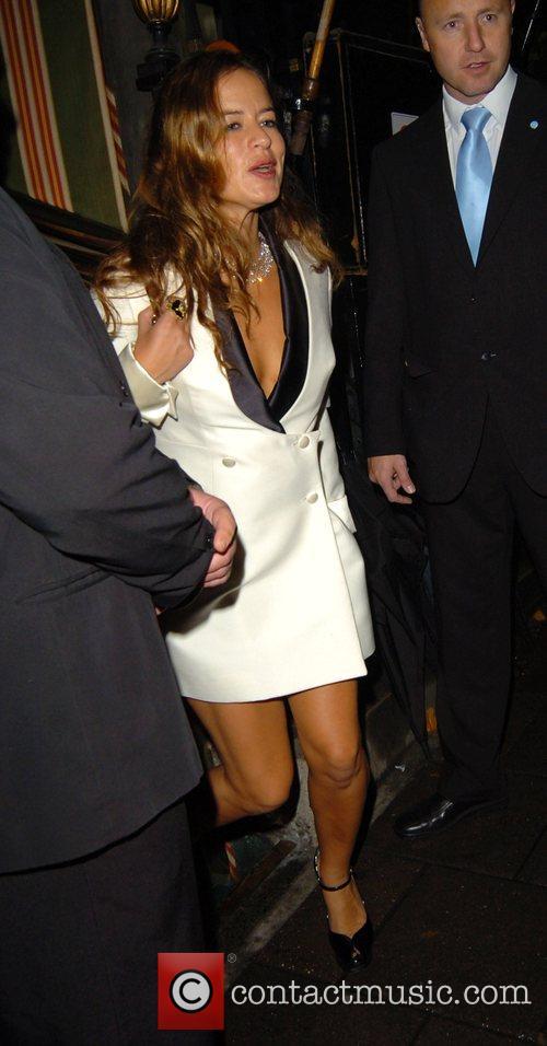 Jade Jagger leaving Annabel's night club London, England