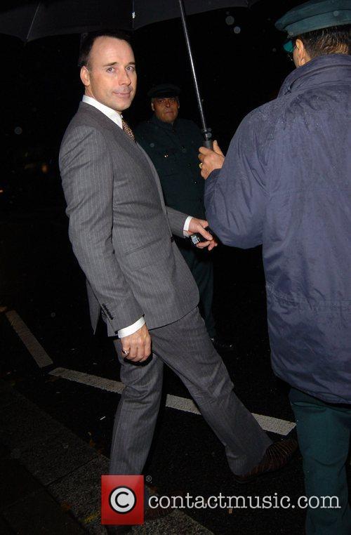 David Furnish leaving Annabel's night club London, England