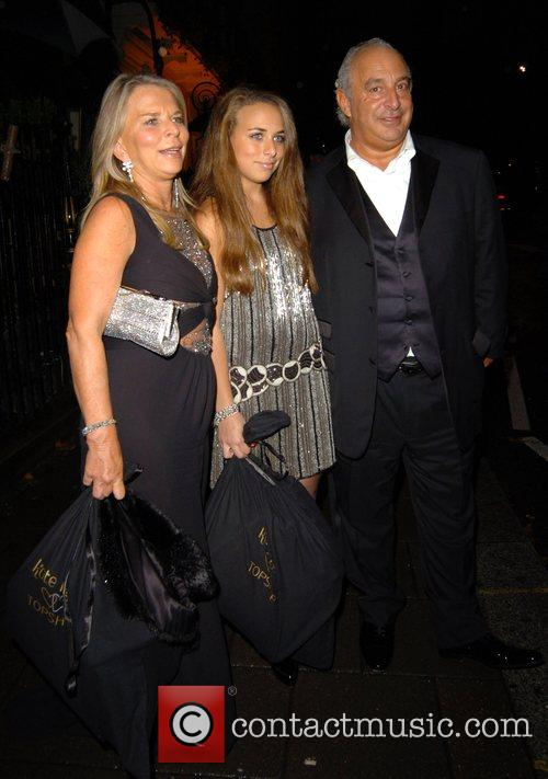 Sir Philip Green and family leaving Annabel's night...