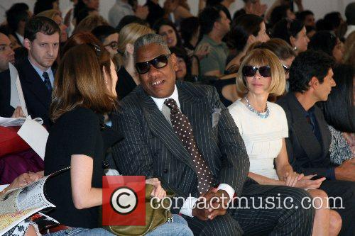 Andre Leon Talley and Anna Wintour Mercedes-Benz Fashion...
