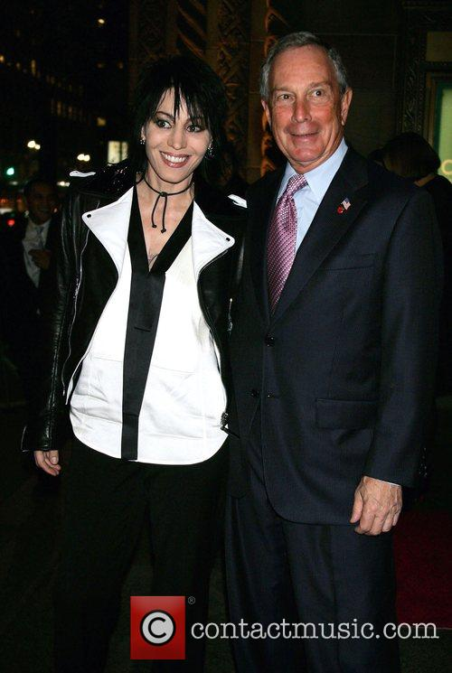 Joan Jett and NYC Mayor Michael Bloomberg 24th...