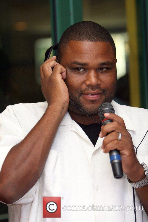Actor Comedian Anthony Anderson speaks to listeners during...