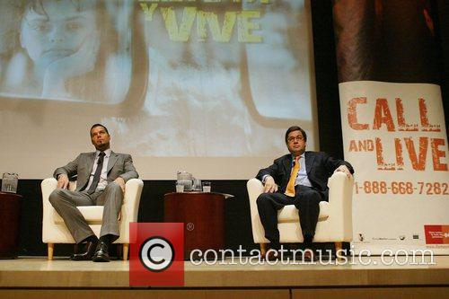 Ricky Martin, Luis Alberto Moreno Launch of 'Call...
