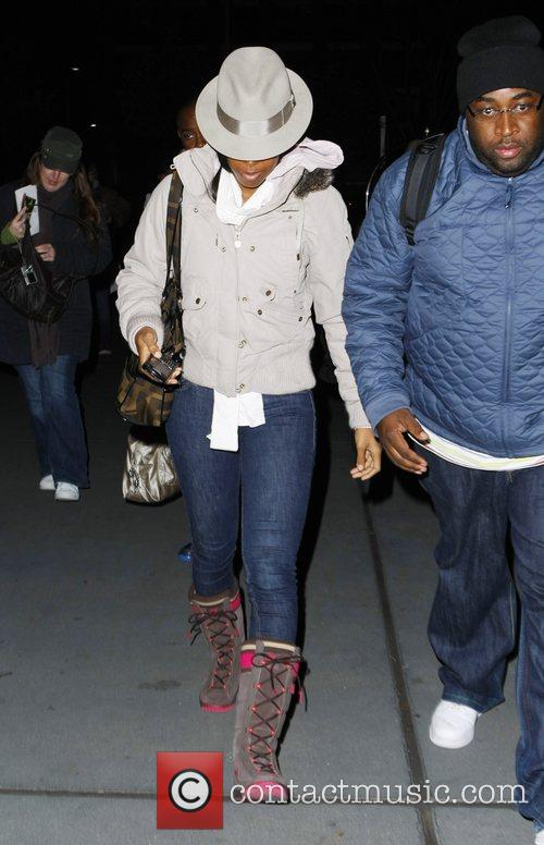 Kelly Rowland arriving at the Arabella Sheraton hotel...