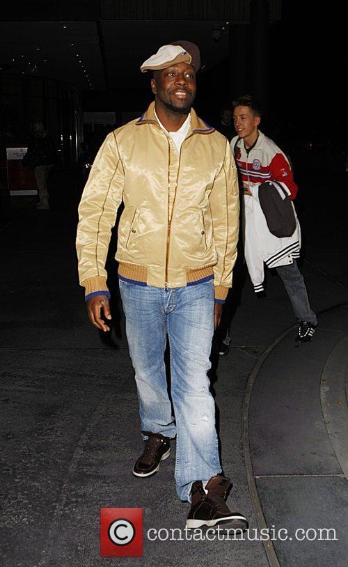 Wyclef Jean leaving the Arabella Sheraton hotel