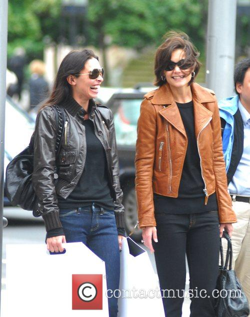 Erica Baxter, Katie Holmes and a bodyguard after...