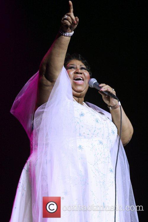 Aretha Franklin performing live in concert at Radio...