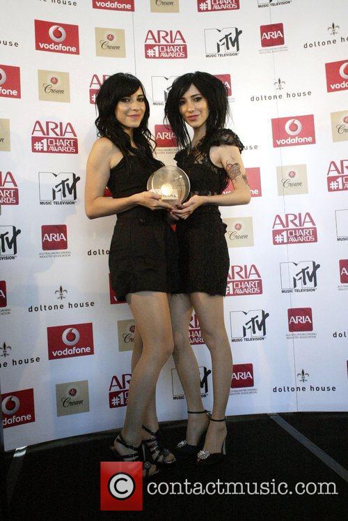 Jess Origliasso and Lisa Origliasso of The Veronicas...