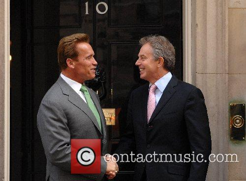California's Governor Arnold Schwarzenegger meets Prime Minister Tony...