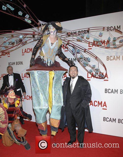 Takashi Murakami Arrivals  LACMA'S Opening celebration of...
