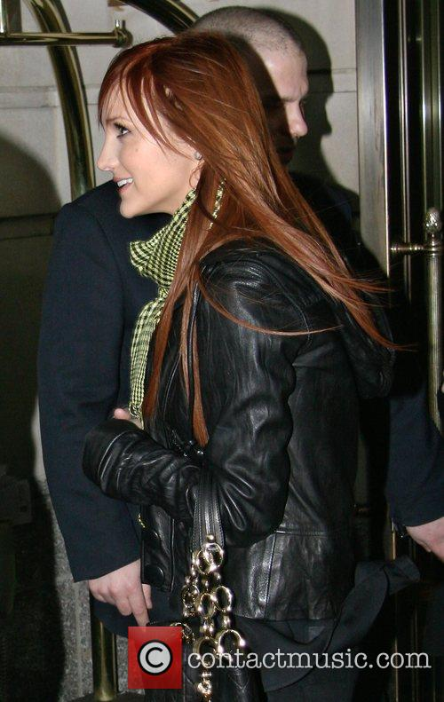 Leaving her hotel
