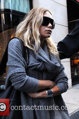 Ashley Olsen shopping in Manhattan wearing flats