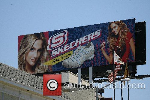 Her new ad campaign for Skechers on Sunset...