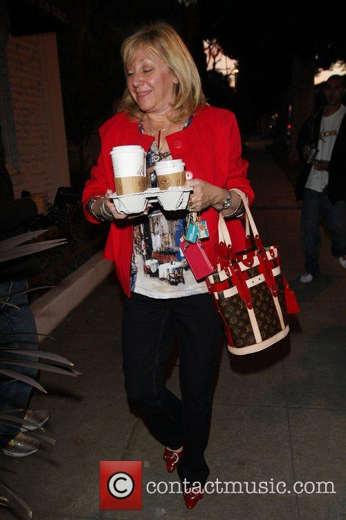 Ashley Tisdale's mother Lisa Tisdale leaving the Chris...