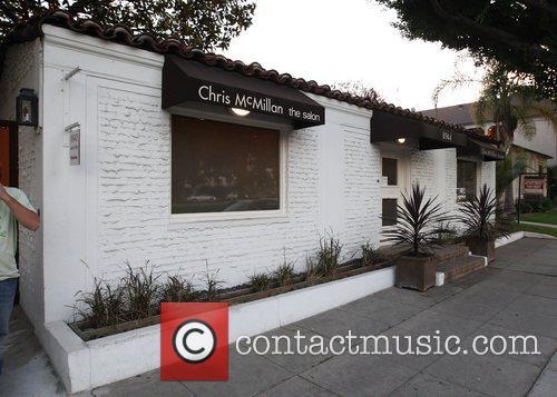 Ashley Tisdale leaving the Chris McMillan salon in...