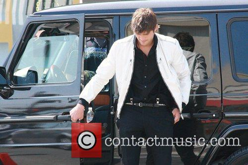 Ashton Kutcher on the film set for his...
