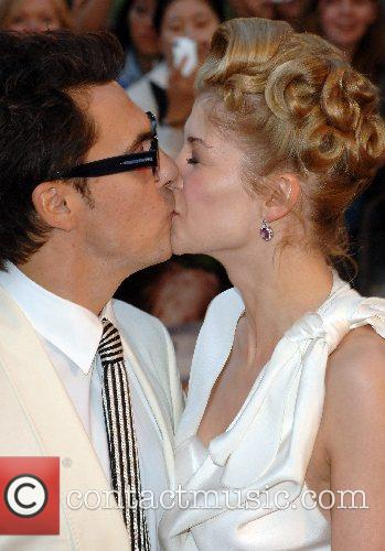 Joe Wright and Rosamund Pike UK Premiere of...