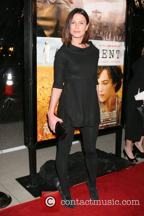Rhona Mitra Los Angeles Premiere of 'Atonement' at...