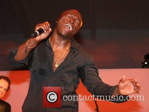 Seal sweating during his performance at the Berlin...