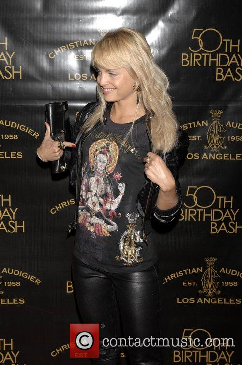 Mena Suvari Christian Audigier 50th birthday party at...