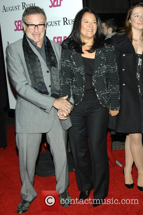 Robin Williams and his wife Marsha at the...