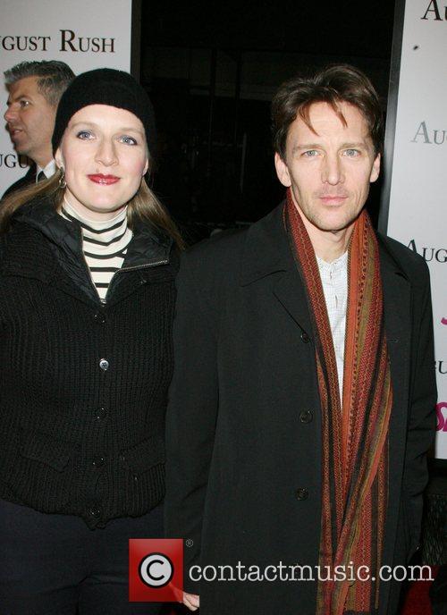 Carol Schneider, Andrew McCarthy The movie premiere of...