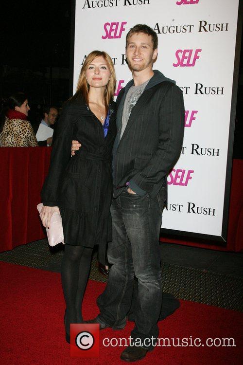Connie Staton, Aaron Staton The movie premiere of...
