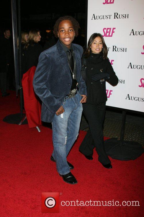 Leon G.Thomas The movie premiere of 'August Rush'...