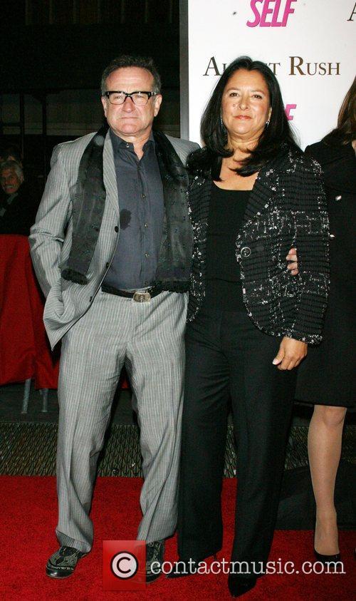 Robin Williams, Marsha Garces Williams The movie premiere...