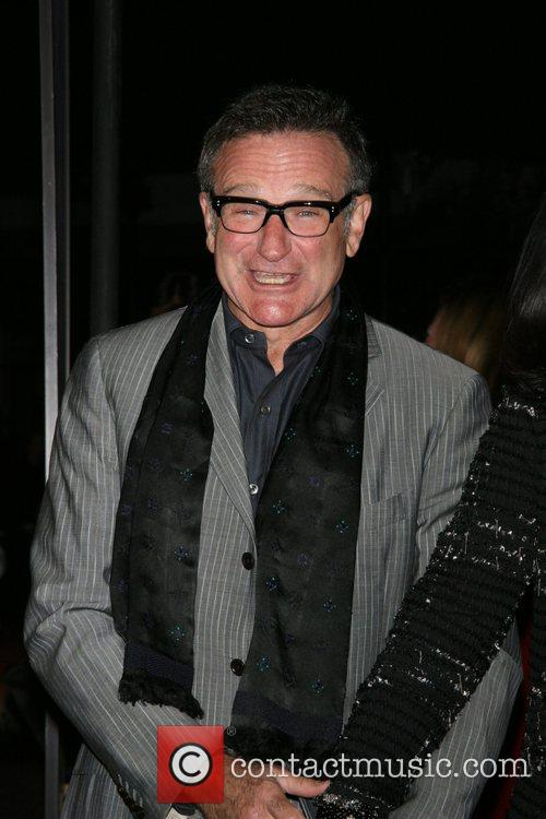 Robin Williams The movie premiere of 'August Rush'...
