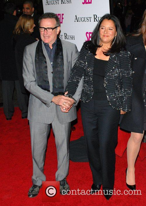 Robin Williams and Marsha Garces Williams Premiere of...