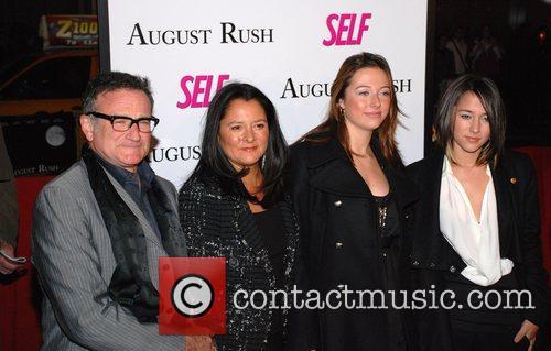 Robin Williams, Marsha Garces Williams and Zelda Williams...