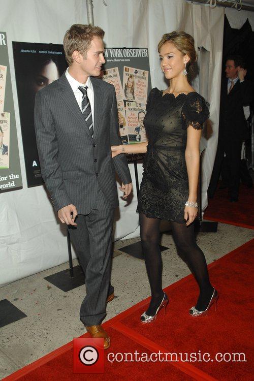 Jessica Alba and Hayden Christensen